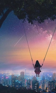 New Makeup Wallpaper Phone Ideas Cute Wallpaper Backgrounds, Pretty Wallpapers, Galaxy Wallpaper, Anime Scenery, Fantasy Landscape, Anime Art Girl, Aesthetic Art, Night Skies, Aesthetic Wallpapers