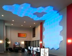 Cloud3016 Seeyond™ Architectural Solutions empowers you to design ceiling clouds that feature programmable LED lighting