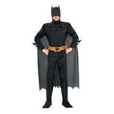 Deluxe Batman(TM) Muscle Halloween Costume for Men
