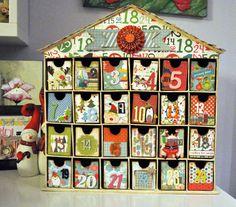 calendario avvento Christmas Countdown, Christmas Diy, Christmas Cards, Countdown Calendar, Advent Calendar, 9 And 10, Silhouette Cameo, Presents, Holiday Decor