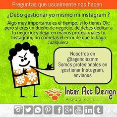 Debo gestionar yo mismo mi Instagram ? . #agenciasmm #maracaibo #medellin #bogota #aumentarventas #latinoamerica #redessociales
