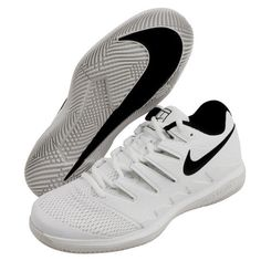 low priced 35abc bebe3 Nike Air Zoom Vapor X HC Men s Tennis Shoes White Racket Racquet NWT AA8030- 101  Nike