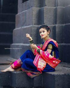 Cute Girl Photo, Girl Photo Poses, Girl Poses, Beautiful Girl Indian, Beautiful Girl Image, Beautiful Indian Actress, Saree Photoshoot, Bridal Photoshoot, Marathi Bride