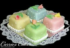 Pastel Wedding Cake And Cupcakes