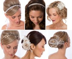 i like some of these headbands.  if it wasn't going to be humid i'd love to wear it like the top middle picture
