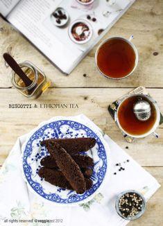 Chocolate & Black Pepper Biscotti and Ethiopian Tea
