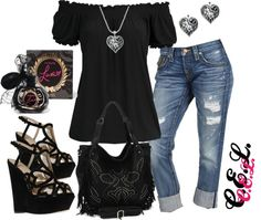 """Untitled #262"" by sweetlikecandycane on Polyvore - Like the shirt and jeans"