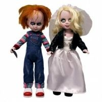 Childs Play Bride of Chucky Living Dead Doll Set - Chucky and Tiffany Doll 2-Pack