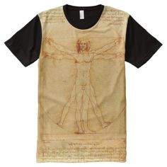 Shop Leonardo da Vinci Vitruvian Man drawing All-Over-Print T-Shirt created by UrHomeNeeds. Personalize it with photos & text or purchase as is! S Shirt, Shirt Style, Tee Shirts, Da Vinci Vitruvian Man, Stylish Shirts, Classical Art, Mandala Pattern, Athletic Tank Tops, Your Style