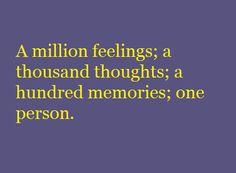 A Million Feelings...