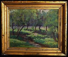 """Canadian Artist Lionel LeMoine FitzGerald Oil """"Forest"""", Canadian Group of Seven Tom Thomson, Emily Carr, Group Of Seven, Canadian Artists, Craftsman, Jackson, Frames, Paintings, Oil"""