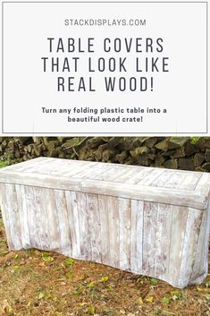 Table Covers that turn any folding table into a beautiful wood crate! Perfect for catered events, weddings, craft shows, vendor events, farmer's markets, birthdays and more! Fitted design, washable and durable fabric! Event Decor, Event Ideas, Party Ideas, Market Table, Plastic Tables, Vendor Events, Craft Show Displays, Wood Crates, Table Covers