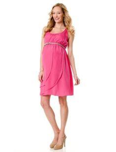 Sleeveless Belted Maternity Dress $29.99