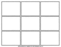 Blank Flash Card Templates | Printable Flash Cards | PDF Format