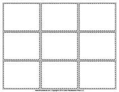 Blank Flash Card Templates | Printable Flash Cards | PDF Format ...