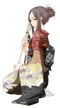 Anime girl in kimono Anime Kimono, Manga Anime, Yukata Kimono, Anime Chibi, Anime Art, Art Kawaii, Kawaii Girl, Kawaii Anime, Manga Girl