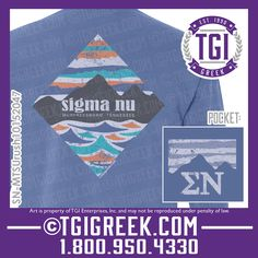TGI Greek - Sigma Nu - Fraternity PR - Comfort Colors - Greek T-shirts #tgigreek #sigmanu #fraternitypr