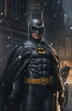 Michael Keaton as Batman by Erlan Arya Batman Y Superman, Batman Suit, Batman And Catwoman, Batman Comic Art, Batman Arkham, Batman Robin, Batman Painting, Batman Artwork, Batman Wallpaper