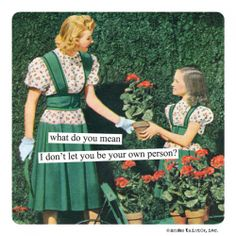 """Anne Taintor Magnet, """"your own person"""""""