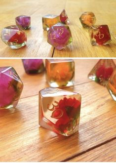 Rose Dice Set
