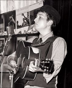 Tonight 4-11 in 1961 - Bob Dylan made his professional singing debut in Greenwich Village. He sang Blowin' in the Wind.