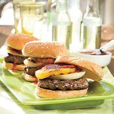 Sweet-and-Savory Burgers   MyRecipes.com