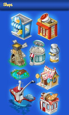 Chef Town Game Art on Behance Behance Cheftown Game Art Town Drawing, House Drawing, Environment Concept Art, Environment Design, 2d Game Art, Biscuit, Fantasy Background, Isometric Art, Pixel Art Games