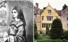 Royal ghosts and where to find them! Left, Margaret of Anjou; right, Owlpen house, Gloucestershire, England
