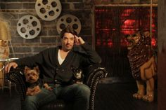 Jonathan Scott with Stewie and Gracie.
