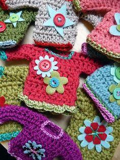 Ravelry: lindamade's Embellished Mini Sweater Ornaments