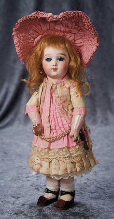 Gorgeous Petite French Bisque Bebe A.T. by Andre Thuillier, Size 4, Original Costume 14,000/21,000