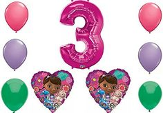 Disney Doc Mcstuffins Happy 3rd Birthday Party Balloon Decorations