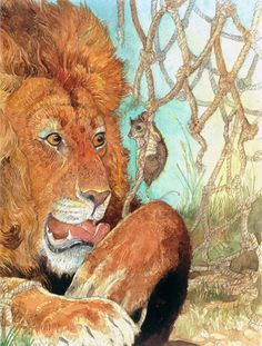 """The Lion And The Mouse"". An Aesops Fable"