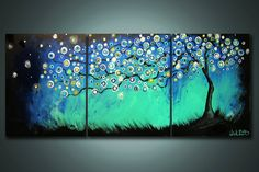 Midnight+Shining++3+Panels+4+feet+wide+++by+NickReitenour+on+Etsy,+$49.00