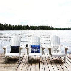 TGIF!!! Looking forward to sitting in my favourite chairs this weekend! Have a great Friday everyone!!! ♡♡♡ #cottagebound #cottage #cottagelife #muskokaliving #muskoka #lakeliving #lakelife #sixmilelake #mysundaysimplicity #outdoordecor #adirondackchairs #Regram via @_katja3_