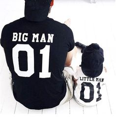 Family Matching Clothes 2019 New Fashion Family T Shirt Print Big Man Little Man Father Son Clothes Matching Family Outfits Father Son Matching Shirts, Matching Family Outfits, Matching Clothes, Shirt Outfit, My Outfit, Kids Outfits, Summer Outfits, Look T Shirt, Dad Baby
