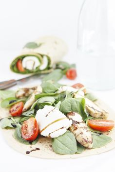 caprese chicken wraps