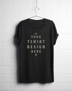 Realistic Hanging T-Shirt Mockup, The file is delivered in layered Photoshop PSD format, using Smart Objects to easily customize your design. Ui Kit, Mockups Gratis, Web Design, Logo Design, Design Ideas, Shirt Template, Free Photoshop, Photoshop Tutorial, Photoshop Actions
