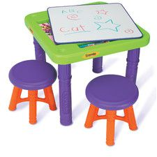 Crayola Sit 'n Draw Play Kids' 3 Piece Table and Stool Set