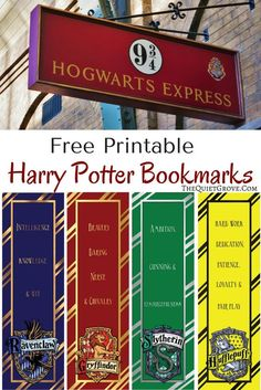 Are you a Harry Potter Fan? Then you will love these Free Harry Potter Printable Bookmarks! There is one for each of the 4 Hogwarts Houses!