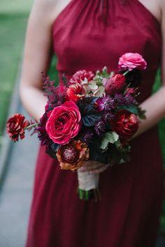 fall wedding colored jewel tone wedding bouquets