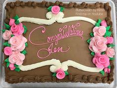 Buttercreme Blumenkuchen - My buttercream creations - Buttercream Flowers, Buttercream Cake, Birthday Sheet Cakes, Birthday Cake, 31st Birthday, Pretty Cakes, Beautiful Cakes, Mini Cakes, Cupcake Cakes