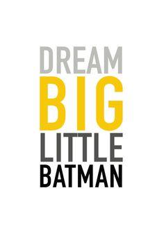 Dream Big Little Batman erhalten Ihr sofortige Download von diesem Druck in fünf verschiedenen Größen innerhalb von Minuten kaufen.  Sie erhalten fünf mit hoher Auflösung (300dpi) druckbare JPGs in folgenden Größen: 4 x 6 5 x 7 8 x 10 11 x 14 16 x 20 dieser ursprünglichen Kunstwerke machen große Geschenke und sind perfekt für Ihr Zuhause, Büro oder Kinderzimmer dekorieren.  Ein Link zu Ihrem Download erhalten Sie per e-Mail sofort nach die Zahlung verarbeitet wird. Alles, was Sie tun müssen…
