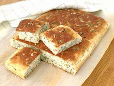 Lättbakat saftigt bröd i långpanna med extra god s... Keto, Lchf, Brunch, Low Carb, Gluten Free, Bread, Cheese, Glutenfree, Brot