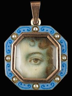eye jewelry antique | Vintage lover's eye jewelry pendant