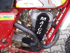 Maico Prototype uploaded by Vince Fuess Mx Bikes, Dirt Bikes, Old School Motorcycles, Cars And Motorcycles, Dirt Bike Racing, Off Road Bikes, Vintage Motocross, Motorcycle Engine, Sidecar