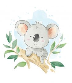 Cartoon koala sitting on the tree branch illustration africa zebra elephant lion watercolor little animals clipart etsy Cartoon Cartoon, Illustration Cartoon, Illustrations, Cute Animal Illustration, Cute Drawings, Animal Drawings, Baby Animals, Cute Animals, Baby Giraffes