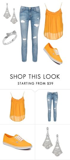 """oarnge color challange"" by keelin-hollabaugh on Polyvore featuring Plein Sud, Current/Elliott, Vans, Bebe and Kate Spade"
