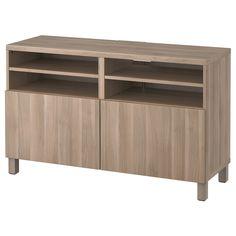 BESTÅ, TV-Bank mit Türen, Lappviken grau las. Nussbaumnachb., Jetzt bestellen unter: https://moebel.ladendirekt.de/wohnzimmer/tv-hifi-moebel/tv-lowboards/?uid=dfd74ae6-9cad-5f84-a468-62fc2cf7b860&utm_source=pinterest&utm_medium=pin&utm_campaign=boards #tvlowboards #wohnzimmer #tvhifimoebel
