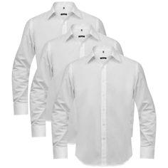 3 Business-skjorter for menn Str. L Hvit , Skill deg ut fra mengden med vårt sett av 3 business-skjorter. Skjortene er egnet for enhver anledning fra formelle anledninger til uformelle middager.  kr680,75> 0% Rabatt  https://www.fyndpris.no/8130965-3-business-skjorter-for-menn-str-l-hvit.html